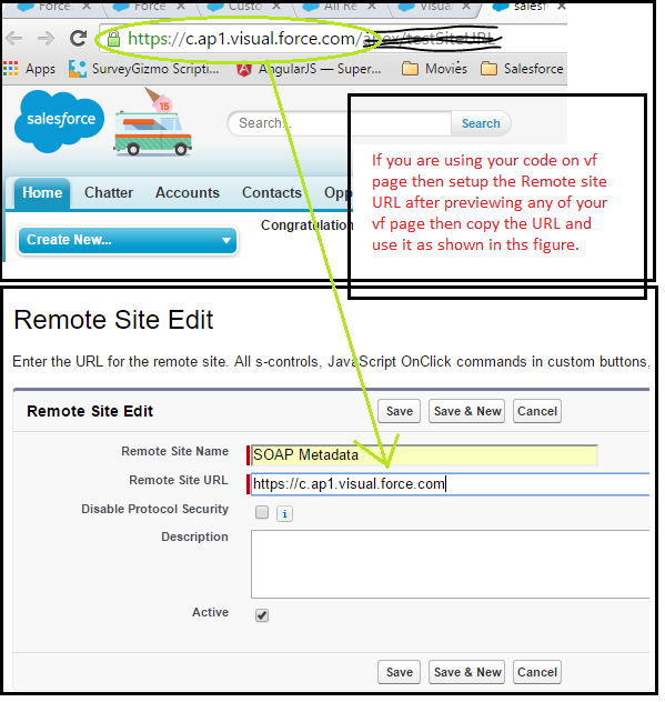 Setup Remote Site Setting for VF Page.